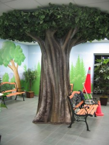 Tree area to sit