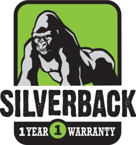 Silverback logo with gorilla on it
