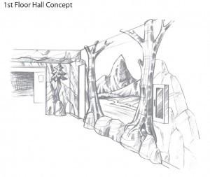 1st flr short hall concept