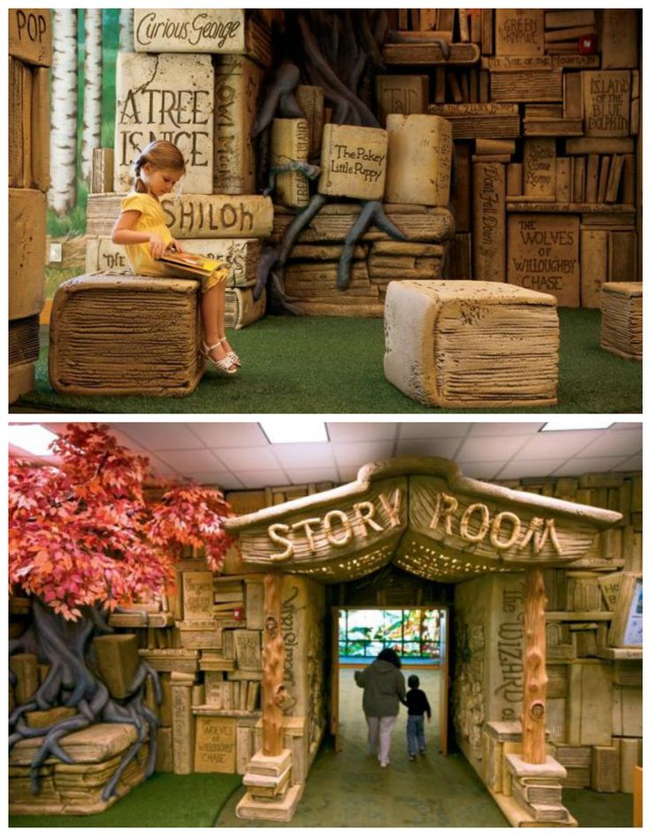 brentwood themed library space
