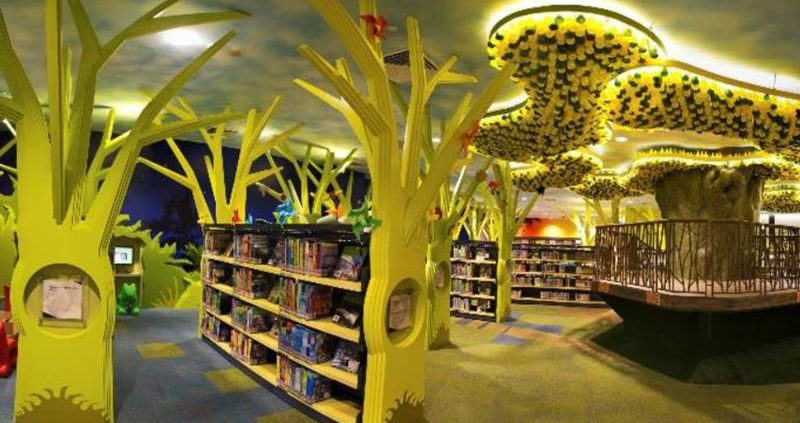 themed library space
